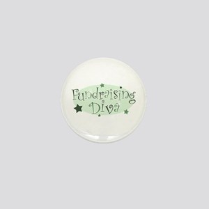"""""""Fundraising Diva"""" [green] Mini Button"""